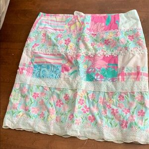 Lilly Pulitzer floral skirt